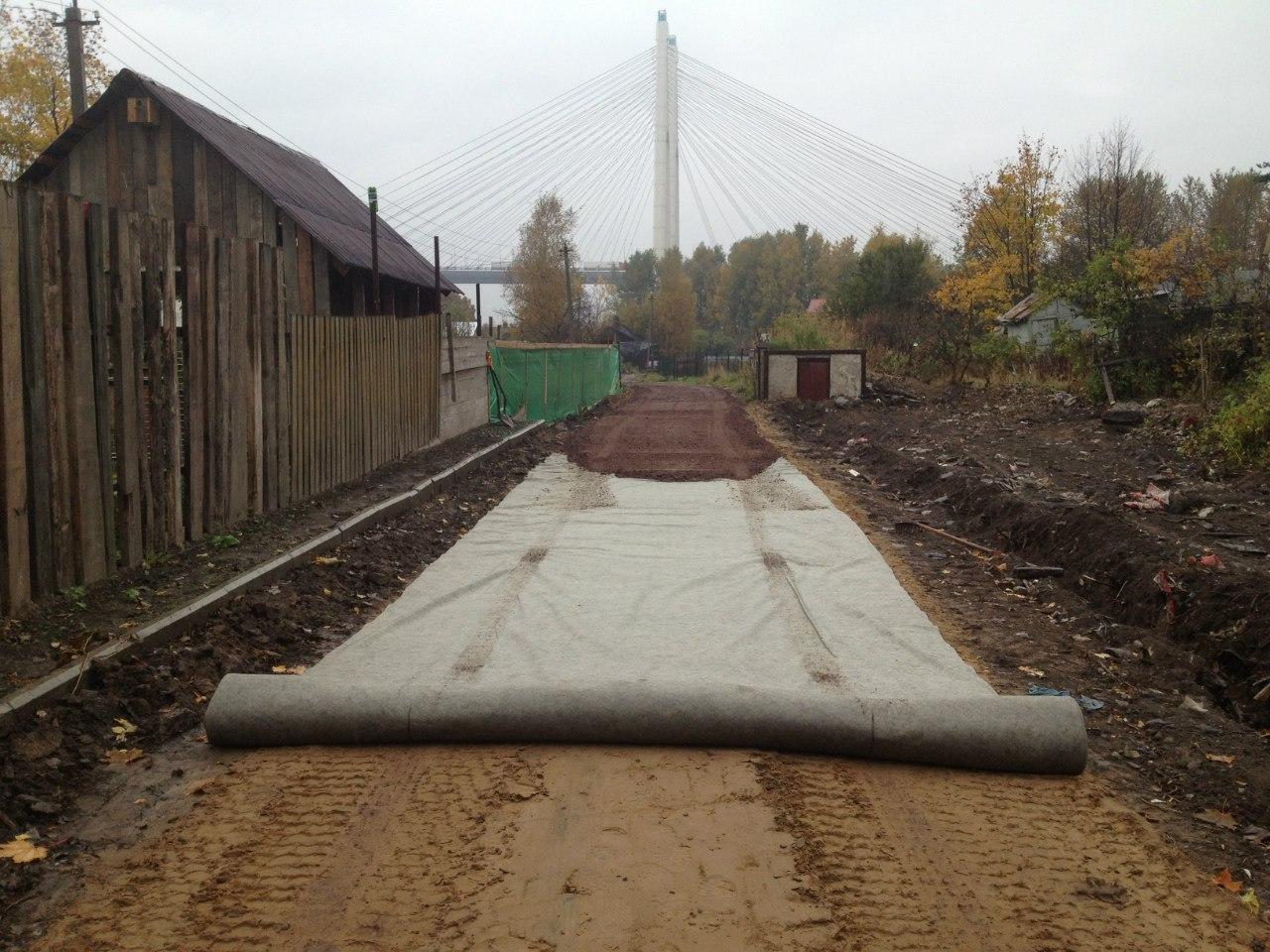 Начало строительства дороги