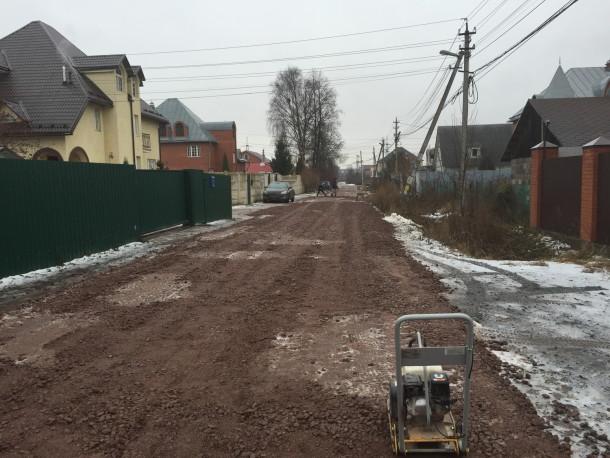 Ремонт дороги в поселке им. Свердлова