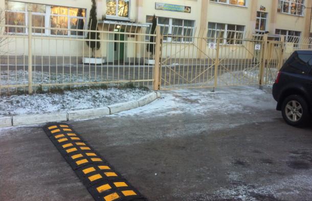 Исскуственная дорожная неровность, установленная компанией АвтоНеруд